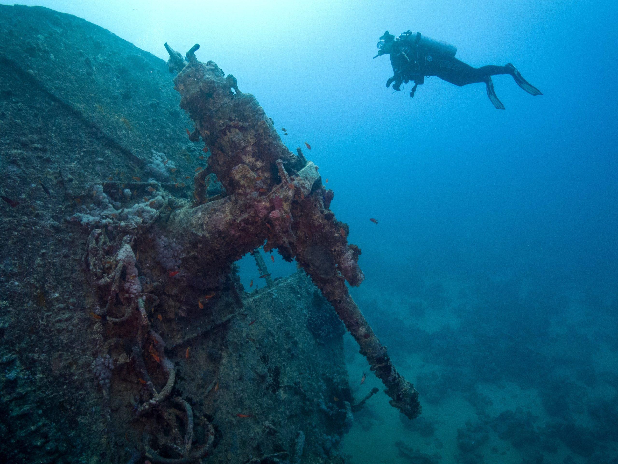 Unterwasser-Wrack
