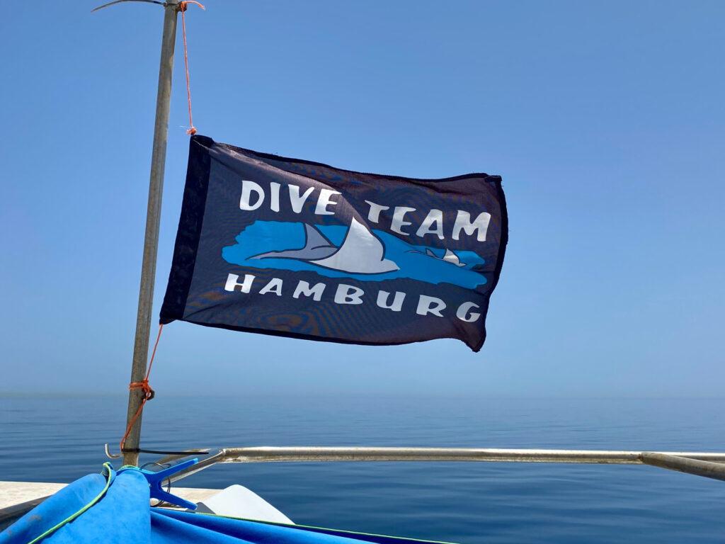 Flagge Dive Team Hamburg